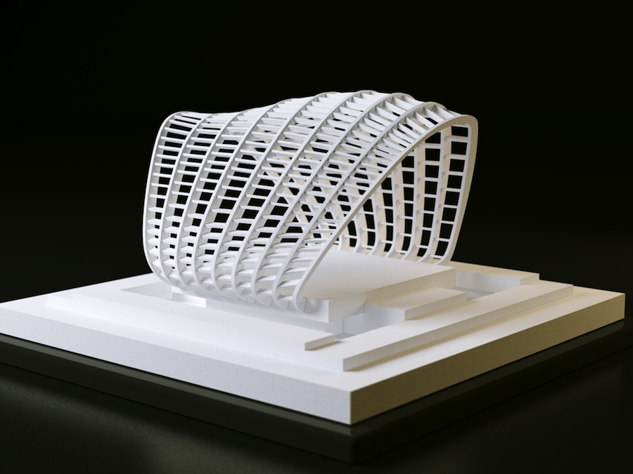 3 dimensional modelling in architectural design Three-dimensional topology optimisation in the architectural design process serves as a background for and then applying adjustments to the model.