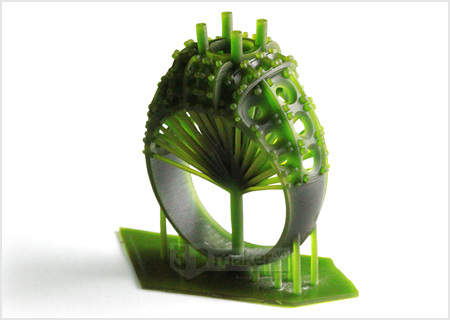 Nhẫn nữ in 3D resin sáp